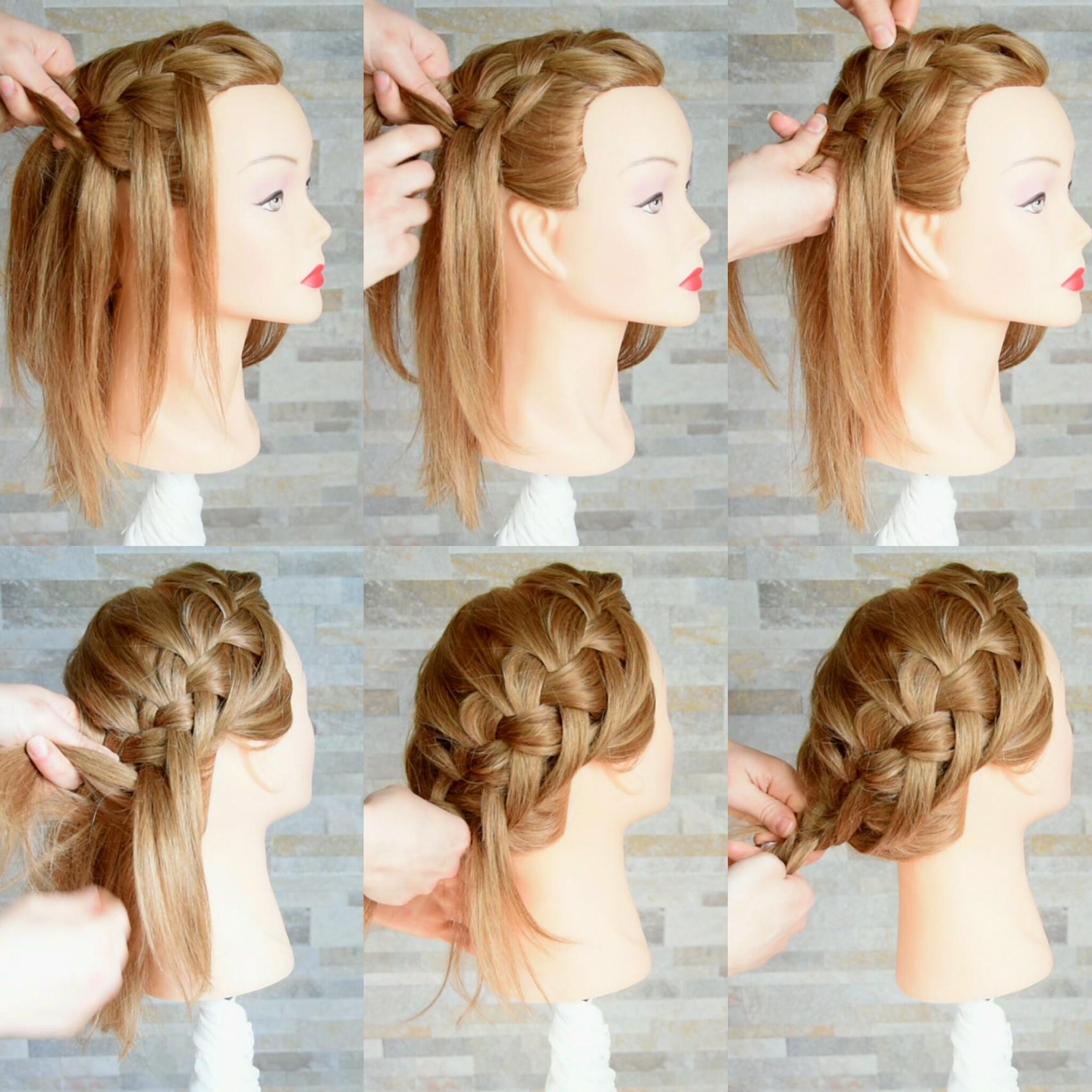 Acconciature con trecce capelli medi